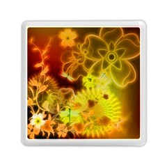 Glowing Colorful Flowers Memory Card Reader (Square)