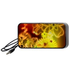 Glowing Colorful Flowers Portable Speaker (black)