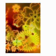 Glowing Colorful Flowers Small Garden Flag (two Sides)