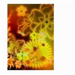 Glowing Colorful Flowers Large Garden Flag (Two Sides)