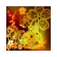 Glowing Colorful Flowers Acrylic Tangram Puzzle (6  x 6 )