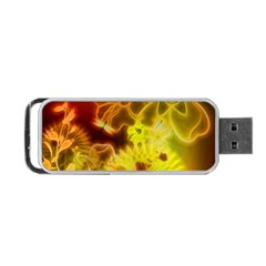 Glowing Colorful Flowers Portable USB Flash (Two Sides)