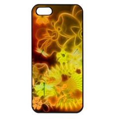 Glowing Colorful Flowers Apple iPhone 5 Seamless Case (Black)