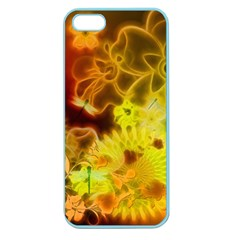 Glowing Colorful Flowers Apple Seamless iPhone 5 Case (Color)