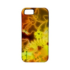 Glowing Colorful Flowers Apple iPhone 5 Classic Hardshell Case (PC+Silicone)