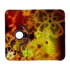 Glowing Colorful Flowers Samsung Galaxy S  III Flip 360 Case