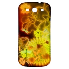 Glowing Colorful Flowers Samsung Galaxy S3 S III Classic Hardshell Back Case