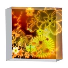 Glowing Colorful Flowers 5  x 5  Acrylic Photo Blocks