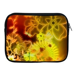 Glowing Colorful Flowers Apple iPad 2/3/4 Zipper Cases