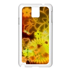 Glowing Colorful Flowers Samsung Galaxy Note 3 N9005 Case (White)