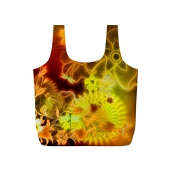Glowing Colorful Flowers Full Print Recycle Bags (S)