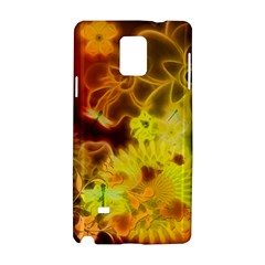 Glowing Colorful Flowers Samsung Galaxy Note 4 Hardshell Case
