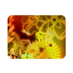 Glowing Colorful Flowers Double Sided Flano Blanket (Mini)