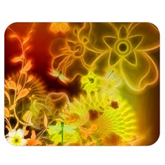 Glowing Colorful Flowers Double Sided Flano Blanket (Medium)