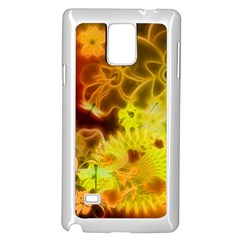 Glowing Colorful Flowers Samsung Galaxy Note 4 Case (white)
