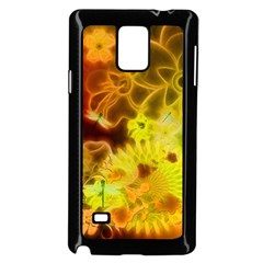 Glowing Colorful Flowers Samsung Galaxy Note 4 Case (Black)