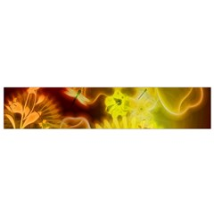 Glowing Colorful Flowers Flano Scarf (small)