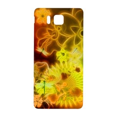 Glowing Colorful Flowers Samsung Galaxy Alpha Hardshell Back Case
