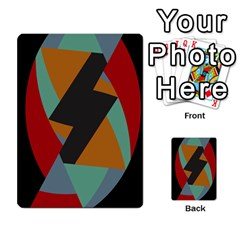 Fractal Design in Red, Soft-Turquoise, Camel on Black Multi-purpose Cards (Rectangle)