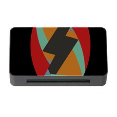 Fractal Design in Red, Soft-Turquoise, Camel on Black Memory Card Reader with CF