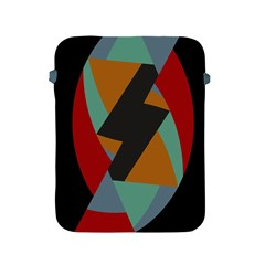 Fractal Design In Red, Soft Turquoise, Camel On Black Apple Ipad 2/3/4 Protective Soft Cases