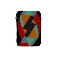 Fractal Design in Red, Soft-Turquoise, Camel on Black Apple iPad Mini Protective Soft Cases