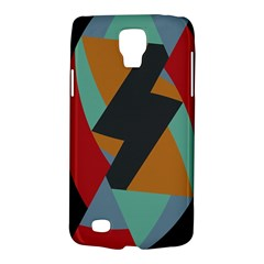 Fractal Design in Red, Soft-Turquoise, Camel on Black Galaxy S4 Active