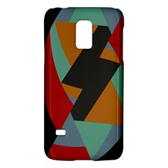 Fractal Design In Red, Soft Turquoise, Camel On Black Galaxy S5 Mini