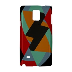 Fractal Design In Red, Soft Turquoise, Camel On Black Samsung Galaxy Note 4 Hardshell Case