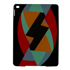 Fractal Design in Red, Soft-Turquoise, Camel on Black iPad Air 2 Hardshell Cases