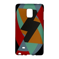 Fractal Design In Red, Soft Turquoise, Camel On Black Galaxy Note Edge