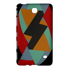 Fractal Design in Red, Soft-Turquoise, Camel on Black Samsung Galaxy Tab 4 (8 ) Hardshell Case