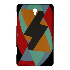 Fractal Design in Red, Soft-Turquoise, Camel on Black Samsung Galaxy Tab S (8.4 ) Hardshell Case