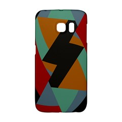 Fractal Design In Red, Soft Turquoise, Camel On Black Galaxy S6 Edge
