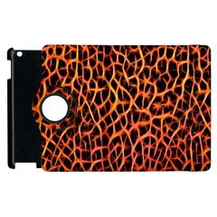 Lava Abstract Pattern  Apple iPad 3/4 Flip 360 Case