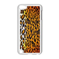 Brown Cheetah Abstract  Apple iPod Touch 5 Case (White)