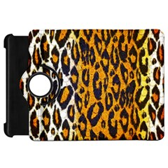 Brown Cheetah Abstract  Kindle Fire HD Flip 360 Case