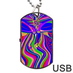 Transcendence Evolution Dog Tag USB Flash (One Side)