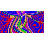 Transcendence Evolution Twin Heart Bottom 3D Greeting Card (8x4)  Front