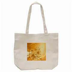 Wonderful Flowers With Butterflies Tote Bag (Cream)