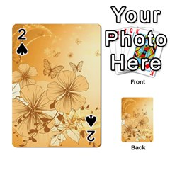 Wonderful Flowers With Butterflies Playing Cards 54 Designs