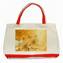 Wonderful Flowers With Butterflies Classic Tote Bag (Red)