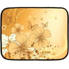 Wonderful Flowers With Butterflies Fleece Blanket (Mini)