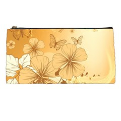 Wonderful Flowers With Butterflies Pencil Cases