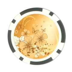 Wonderful Flowers With Butterflies Poker Chip Card Guards (10 pack)