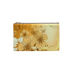 Wonderful Flowers With Butterflies Cosmetic Bag (Small)