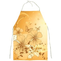 Wonderful Flowers With Butterflies Full Print Aprons