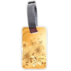 Wonderful Flowers With Butterflies Luggage Tags (Two Sides)