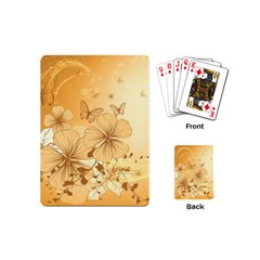 Wonderful Flowers With Butterflies Playing Cards (Mini)