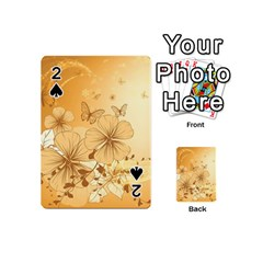 Wonderful Flowers With Butterflies Playing Cards 54 (Mini)